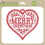 Scandi Heart Merry Christmas