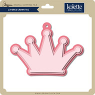 Layered Crown Tag