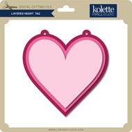 Layered Heart Tag