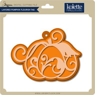 Layered Pumpkin Flourish Tag