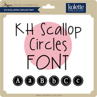 Scalloped Circles Font