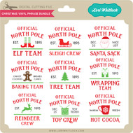 Christmas Vinyl Phrase Bundle