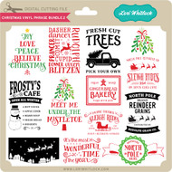 Christmas Vinyl Phrase Bundle 2