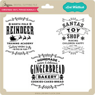 Christmas Vinyl Phrase Bundle 3