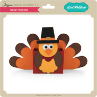 3D Turkey Favor Box