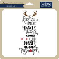 Reindeer List 3