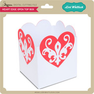 Heart Edge Open Top Box