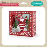 5X7 Shadow Box Card Santa