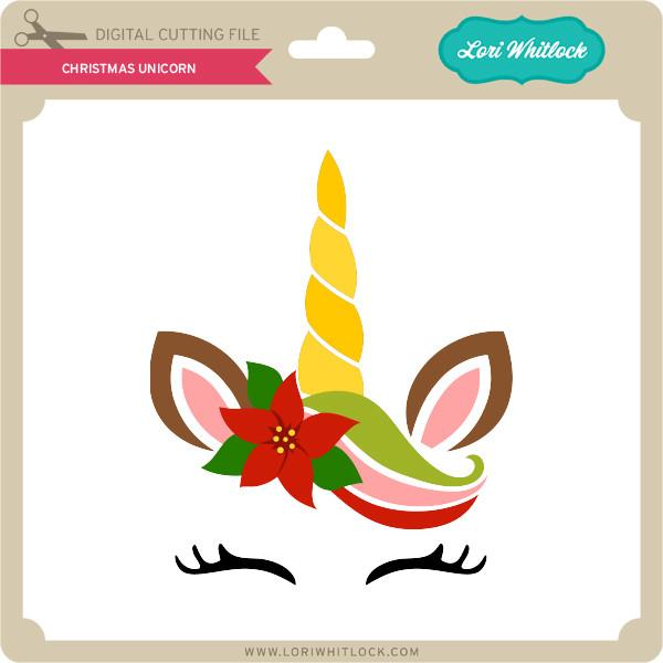 Christmas Unicorn - Lori Whitlock's SVG Shop