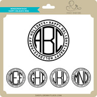 Monogram Basic Happy Holidays Ring