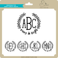 Monogram Type Merry & Bright Wreath