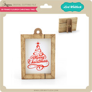 3D Frame Flourish Christmas Tree
