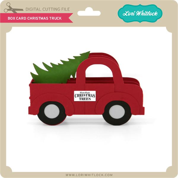 Christmas Truck Svg.Box Card Christmas Truck