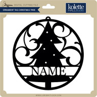 Ornament Tag Christmas Tree