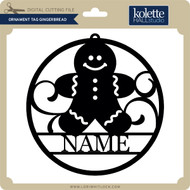 Ornament Tag Gingerbread