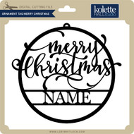 Ornament Tag Merry Christmas