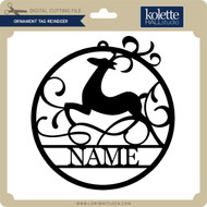 Ornament Tag Reindeer