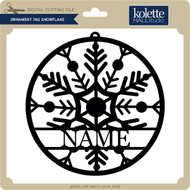 Ornament Tag Snowflake