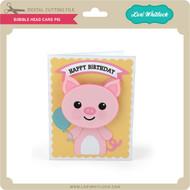 Bobble Head Card Pig