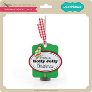 Christmas Tag Holly Jolly