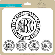 Monogram Basic Give Thanks Ring