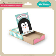 Pop Up Drawer Birthday Penguin