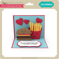 Pop Up Card Burger and Fries