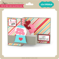 Pop Up Box Card Valentine Gum