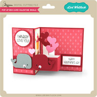 Pop Up Box Card Valentine Whale