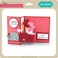 Pop Up Box Card Valentine Whale