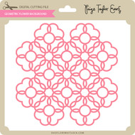 Geometric Flower Background