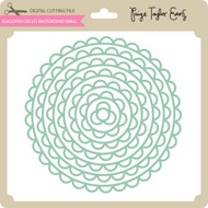 Scalloped Circles Background Small