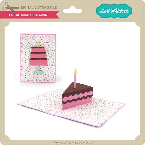 Pleasing Pop Up Cake Slice Card Lori Whitlocks Svg Shop Personalised Birthday Cards Petedlily Jamesorg