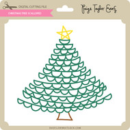 Christmas Tree Scalloped