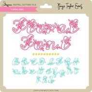 Floral Font