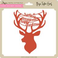 Reindeer Head Merry Christmas