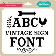 Vintage Sign Font