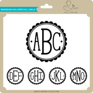 Monogram Scalloped Full Circle