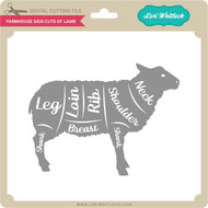 Farmhouse Sign Cuts of Lamb