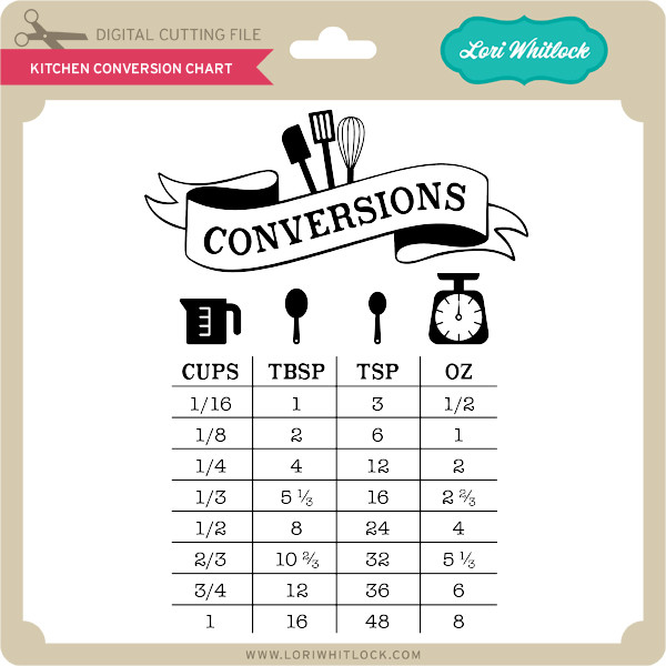 Kitchen Conversion Chart Lori Whitlocks Svg Shop