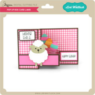 Pop Up Box Card Lamb