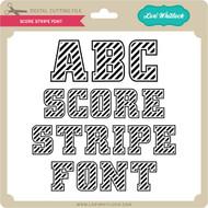 Score Stripe Font