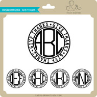 Monogram Basic Give Thanks