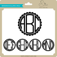 Monogram Scalloped Circle