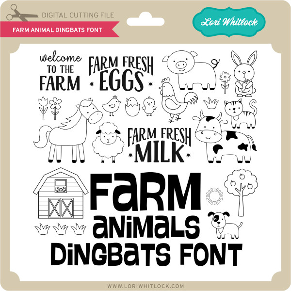 Farm Animal Dingbats Font