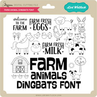 Farm Animal Dingbats Font