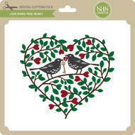 Love Birds Tree Heart