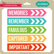 5 Chevron Sayings