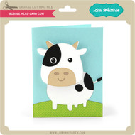Bobble Head Card Cow