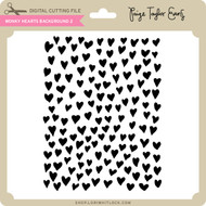 Wonky Hearts Background 2